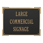 Extra Large Roanoke Horizontal Plaque 3 Lines