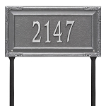 Gardengate 1 Line Grande Lawn Address Plaque
