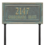 Gardengate 2 Line Grande Lawn Address Plaque