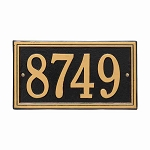 Double Line Address Plaque Wall 1 Line
