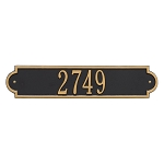 Richmond Horizontal Address Plaque