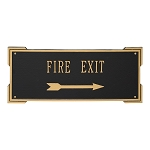 Roanoke Rectangle Plaque with Arrow, Large, Wall