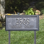 Springfield Rectangle Address Plaque Lawn 1 Line