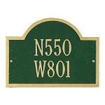 Wisconsin Special Address Plaque Wall 2 Line