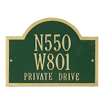Wisconsin Special Address Plaque Wall 3 Line