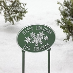 Snowflake Personalized Oval Sign