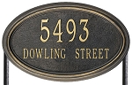Concord Oval Address Plaque Lawn Estate 2 Line