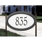 Concord Oval Reflective Address Plaque Estate Lawn