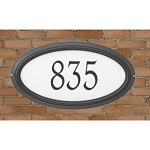 Concord Oval Reflective Address Plaque Wall