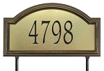 Providence Artisan Metal Address Plaque Estate Lawn