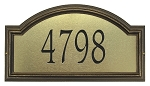 Providence Artisan Metal Address Plaque Estate Wall