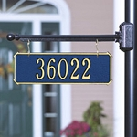 Two-Sided Hanging Rectangle Address Plaque 1 Line