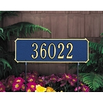 Two-Sided Lawn Address Plaque Rectangle 1 Line