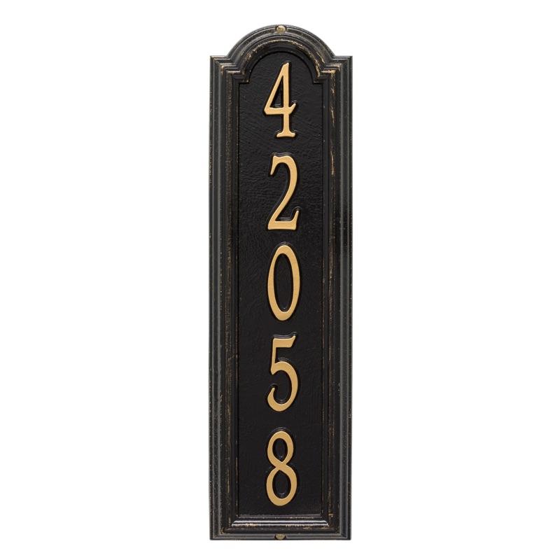 Manchester Vertical Address Plaque