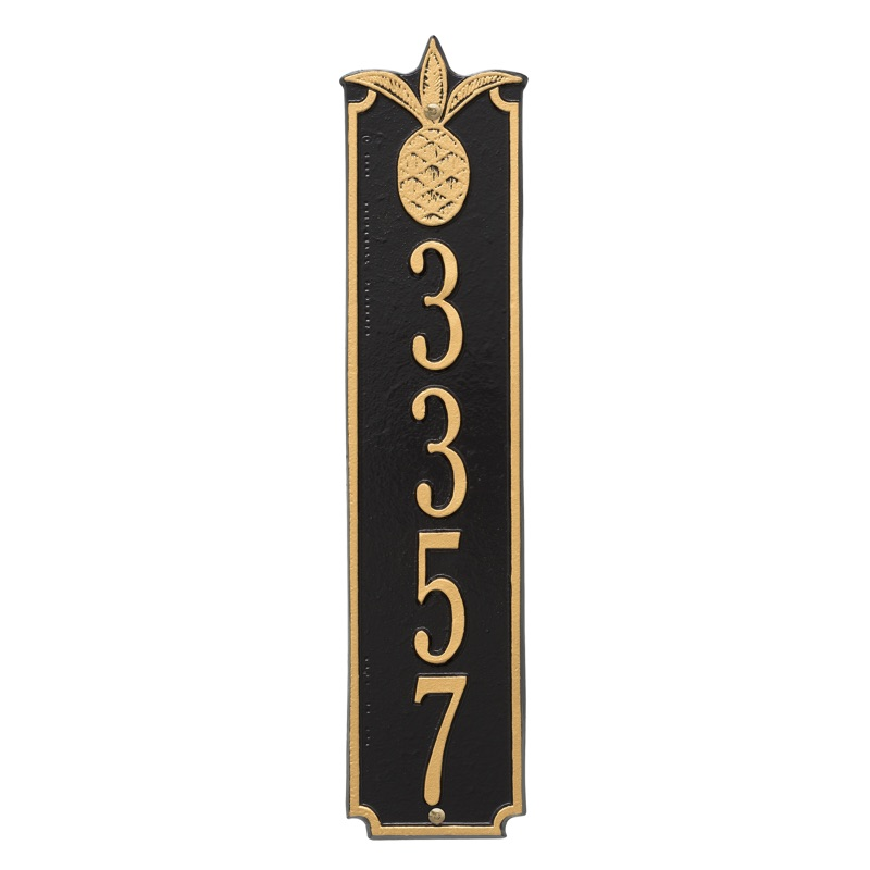 Pineapple Vertical Wall Address Plaque