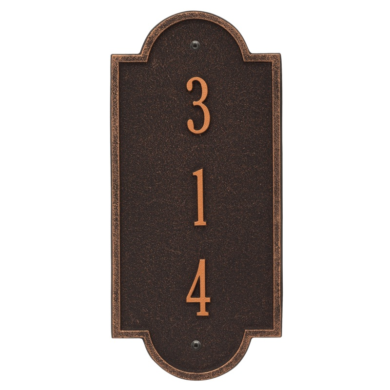 Richmond Vertical Address Plaque Petite