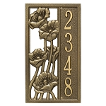 Flowering Poppies Vertical Address Plaque