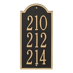 New Bedford Vertical Address Plaque Mini