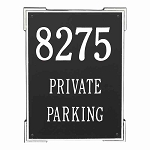 3 Line Roanoke Vertical Wall Plaque Private Parking
