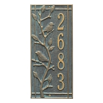 Woodridge Vertical Address Plaque