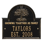 Family Tree Anniversary Wedding Plaque