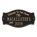 Fluted Arch Welcome Anniversary Plaque