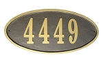 Claremont Oval Address Plaque - Quick Ship