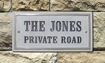 Chesterfield Rectangle Address Plaque - Crushed Stone
