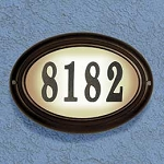 Edgewood Lighted Address Plaque, Oval