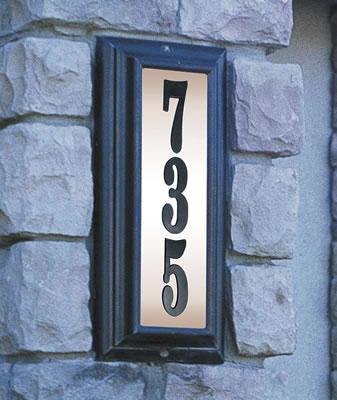 Edgewood Lighted Address Plaque Vertical