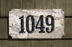 Executive Rectangle Address Plaque - Granite