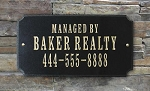 Business Rectangle Address Plaque, Granite