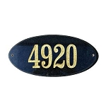 Rockport Oval Address Plaque - Granite