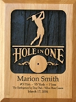 Hole in One, Carved Wood Personalized, Female