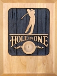 Hole in One, Carved Wood Personalized, Male