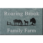 Horses Slate Address Plaque 12 x 19
