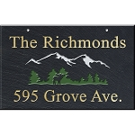 Hanging Slate Address Plaque 12 x 19, Moose