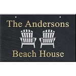 Adirondack Chairs Slate Address Plaque 12 x 19