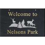 Deer Slate Address Plaque 12 x 19