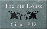 Hanging Slate Address Plaque 12 x 19, Ivy