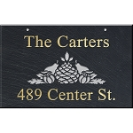 Hanging Slate Address Plaque 12 x 19, Pineapple