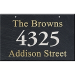 Large 3 Line Slate Wall Address Plaque
