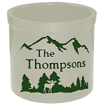 Stoneware Crock Moose Design