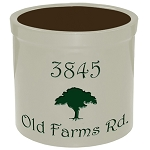 Stoneware Crock Oak with Tree Design