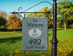 Hanging Slate Address Plaque Vertical 12 x 16