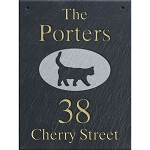 Hanging Slate Address Plaque  12 x 16, Cat