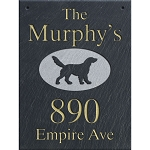 Retriever Wall Slate Address Plaque 12 x 16