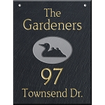 Hanging Slate Address Plaque  12 x 16, Duck