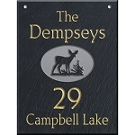Slate Address Plaque  12 x 16, Deer