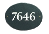 Slate Address Plaque Oval